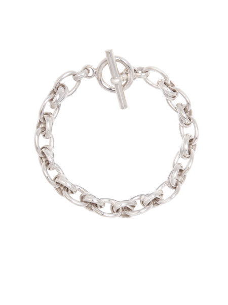 Small Silver Double Link Bracelet