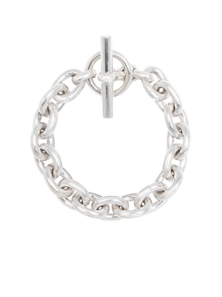 Small Silver Round Link Bracelet