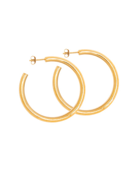 Tilly Sveaas x My Theresa Large Gold Hoop Earrings
