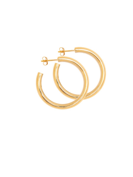 Tilly Sveaas x My Theresa Medium Gold Hoop Earrings