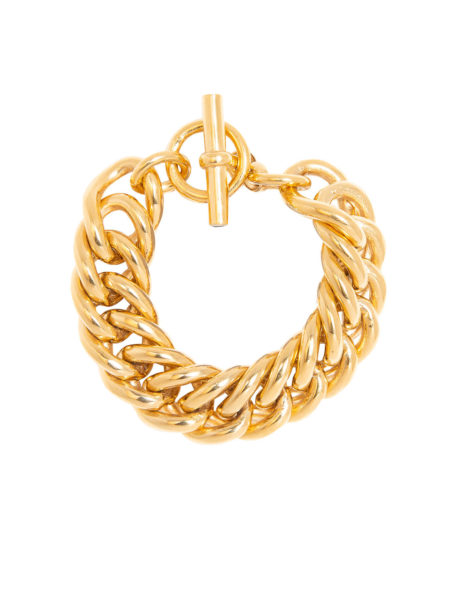 Giant Gold Curb Link Bracelet